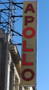 The Marquee at the historic Apollo Theatre in Harlem.