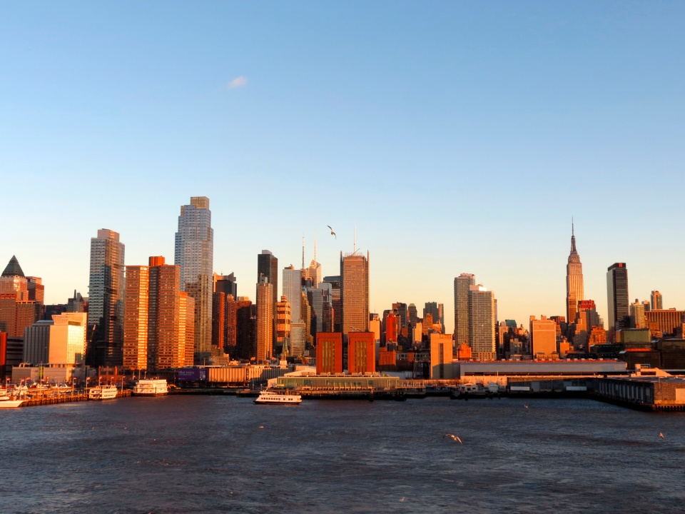 Midtown Manhattan from the Hudson River.