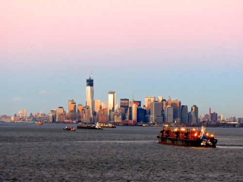 Skyline of Lower Manhattan.