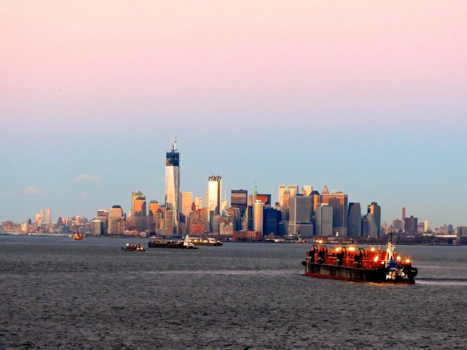 Skyline of Lower Manhattan.