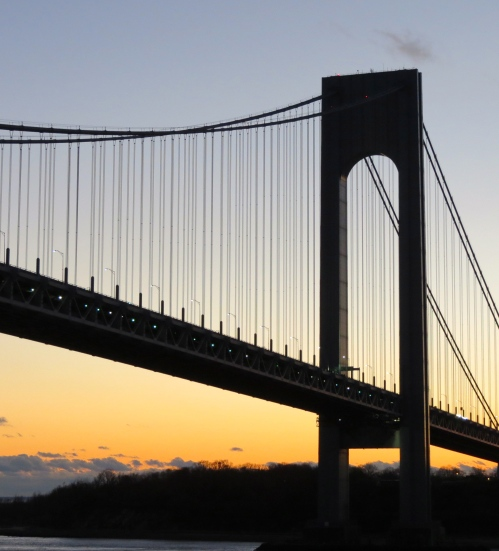 Verrazano-Narrows Bridge, New York Harbor.