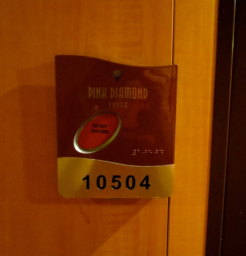 Room 10504, the Pink Diamond Suite on the Norwegian Jewel. Our home for seven days.