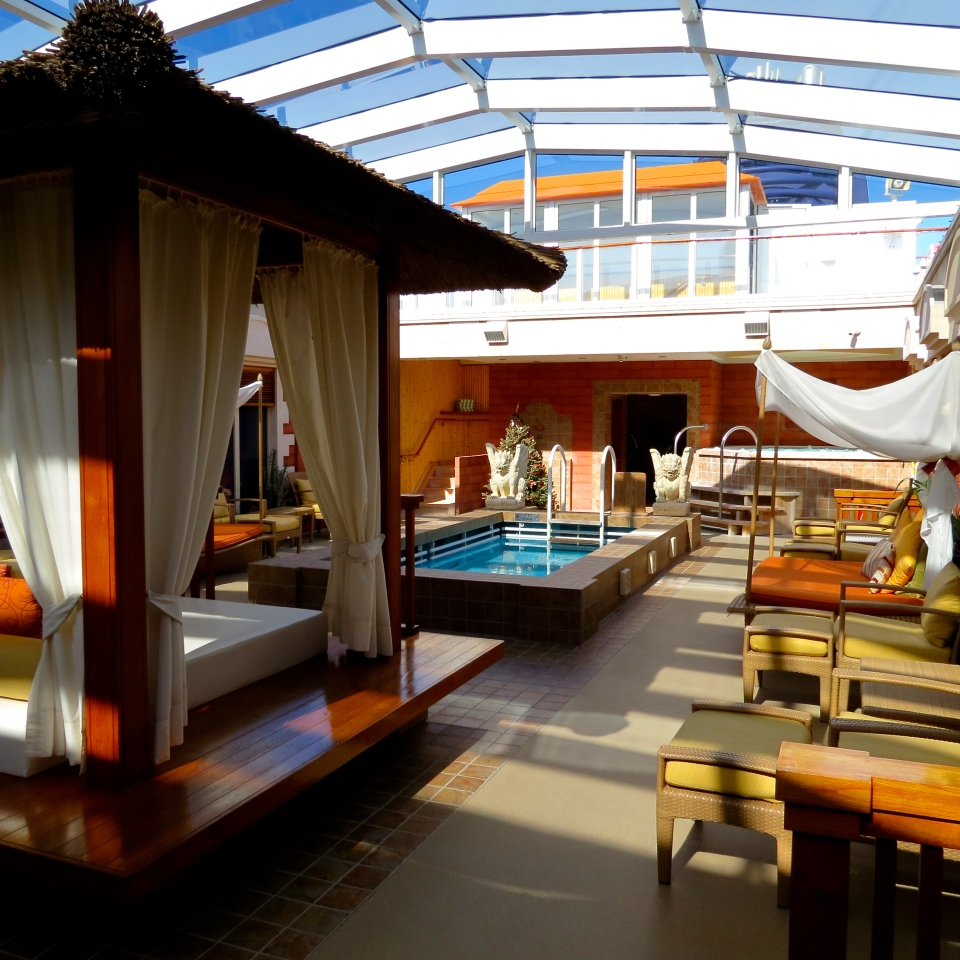 The Haven on the Norwegian Jewel. A private area for guests staying in the suites.