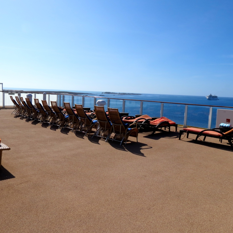 The private sun deck above The Haven.