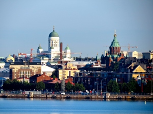 Our view of Helsinki as we sailed in to port.