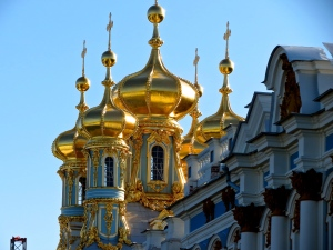 Onion domes of Catherine Palace.