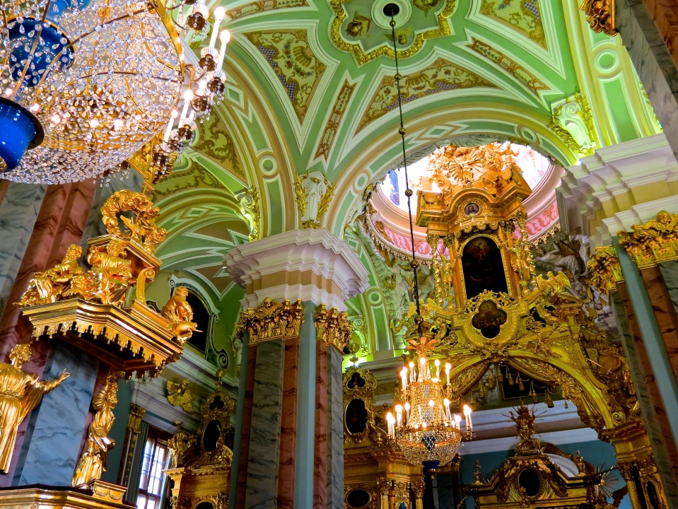 Inside the Peter and Paul Cathedral.