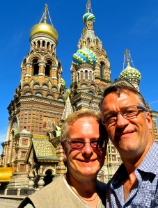 Michael and I at the Church of the Spilled Blood.