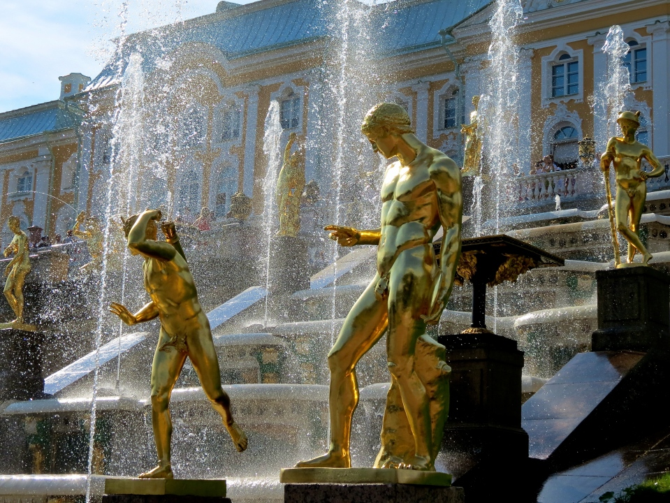 The Grand Cascade at Peterhof.