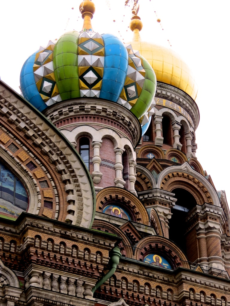 The onion domes of the Church of the Spilled Blood.