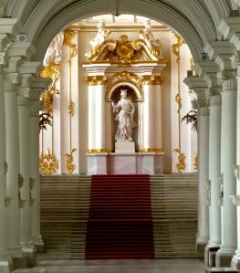 Entering the Hermitage.