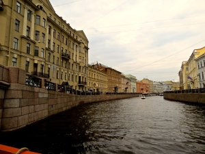 Along the canal in Saint Petersburg.