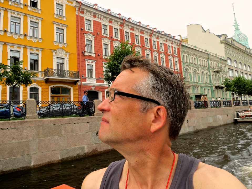 Taking in our last glimpse of Saint Petersburg.