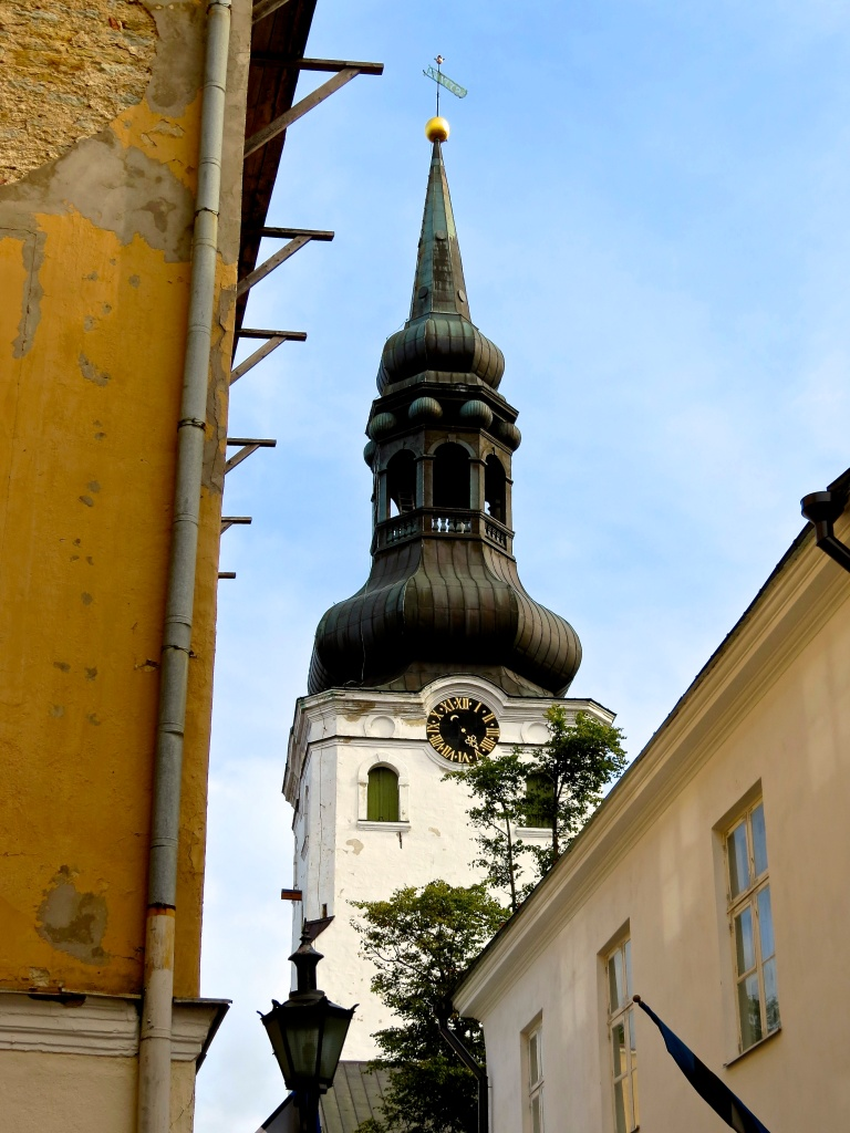 The Baroque tower of the Cathedral of Saint Mary the Virgin, also known as the Dome Church.