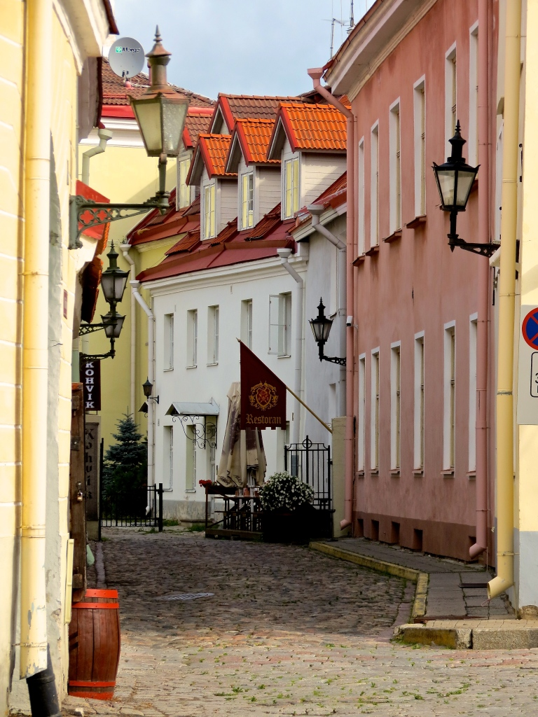 The streets of Toompea (Upper Town), Tallinn, Estonia.