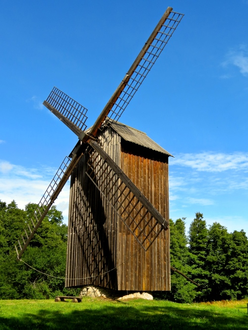 A windmill at the Estonia Open Air Museum.