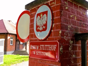 Entrance to the Stutthof Museum.