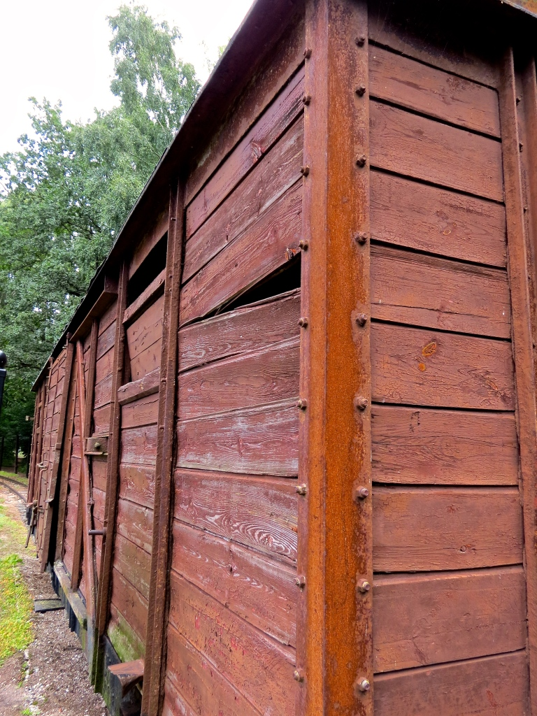 Cattle cars were used to transport prisoners into the camp.
