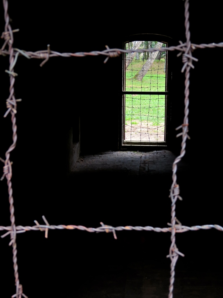 Looking inside the gas chamber.