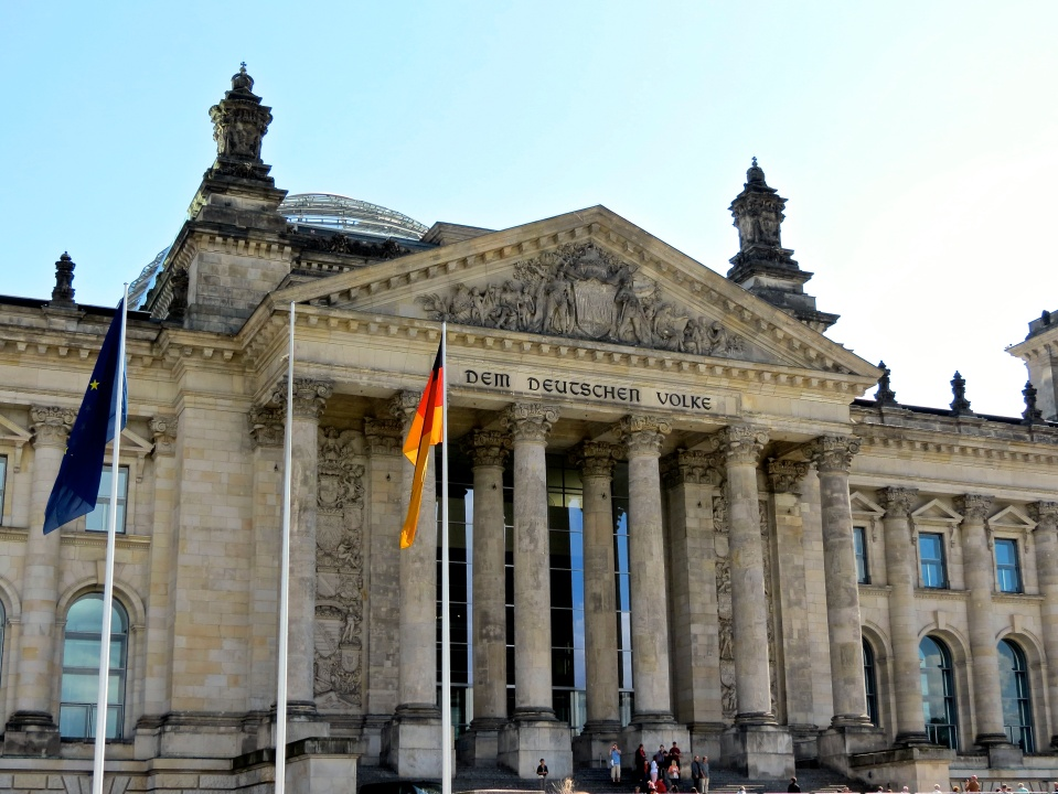 The historic Reichstag Building, home of German Parliament.