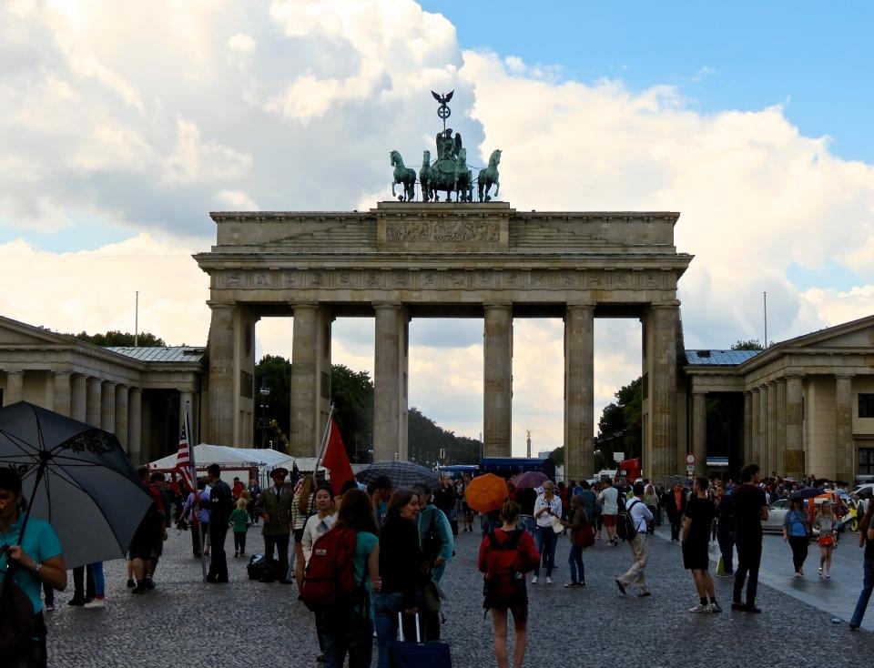 The Brandenburg Gate.