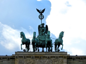 The top of the Brandenburg Gate.