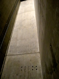 Inside the Holocaust Tower. Notice the 'ladder to nowhere'.