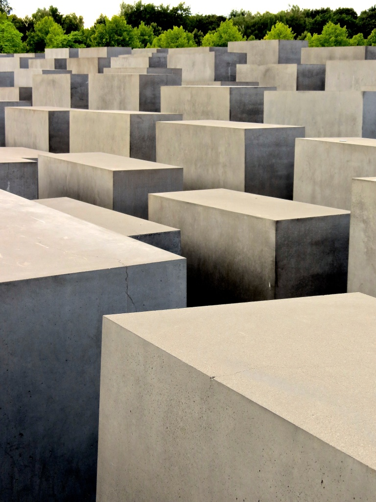 The Memorial to the Murdered Jews of Europe in the center of Berlin.