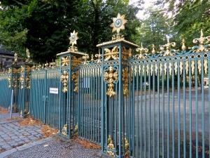Ornate gates at the Schloss Chalottenburg.