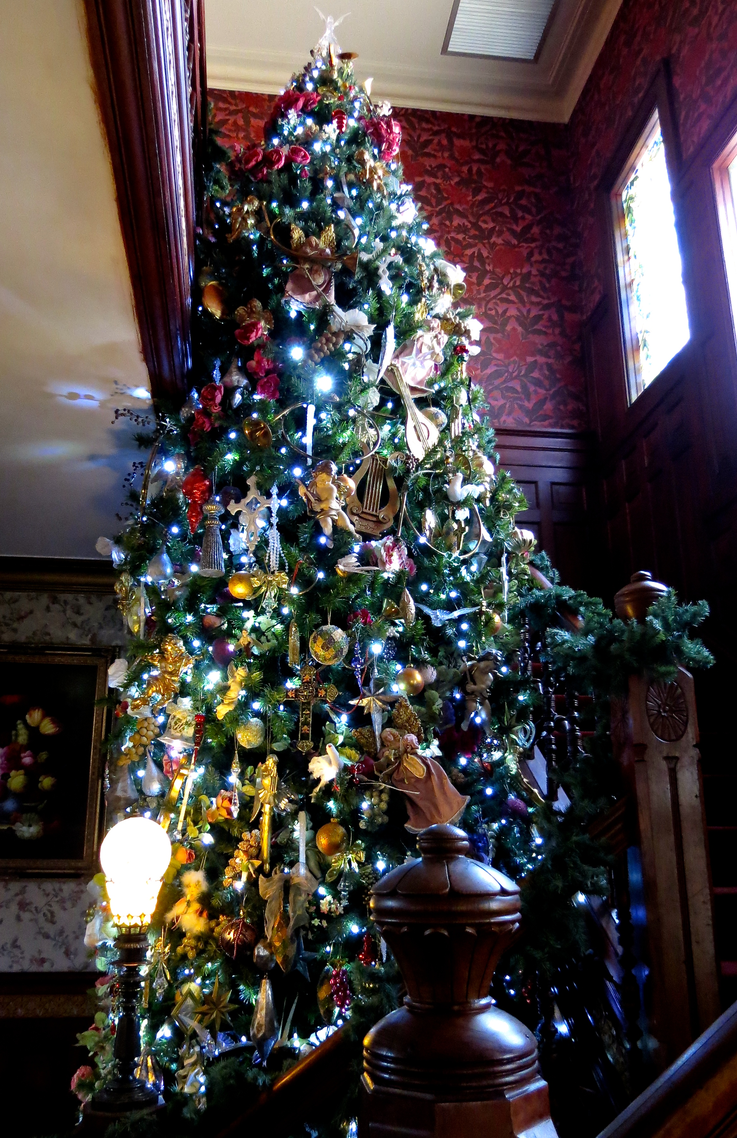 victorian foyer tree i created this 20 ft tree from two 12 ft trees we - 20 Ft Christmas Tree