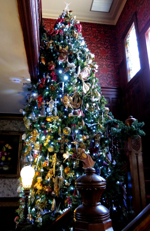 Victorian Foyer Tree. I created this 20 ft tree from two 12 ft trees we already owned.