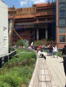 A view on The High Line.