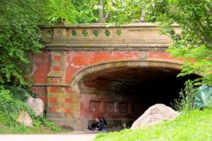 One of a number or bridges in Central Park.
