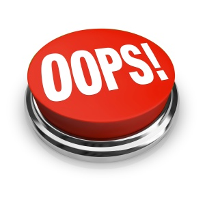 Oops Word on Big Red Button Correct Mistake
