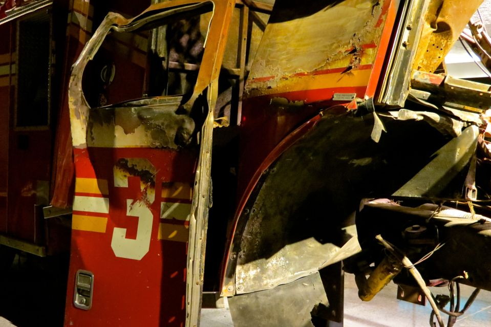 Ladder 3 damaged on 9/11. All the firefighters from this vehicle perished.