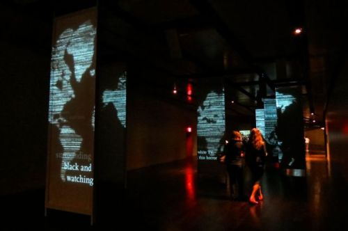 Changing Panels and overlapping audio accounts of 9/11/01 surround you as you pass through the section of the exhibit.