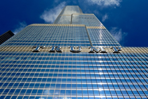 The newest major addition to the Chicago skyline, Trump Tower.