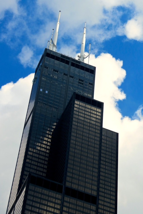The Willis Tower. Formerly known as the Sears Tower. The second tallest building in the U.S.