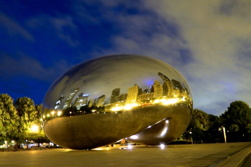 Cloud Gate, 6 am.