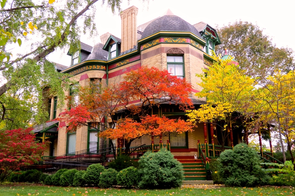 Autumn at 321 Division Street. 125 years old.