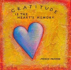 Gratitude-is-the-hearts-memory-a-French-proverb