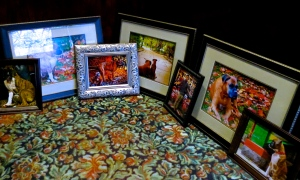 Framed photos ready to hang.