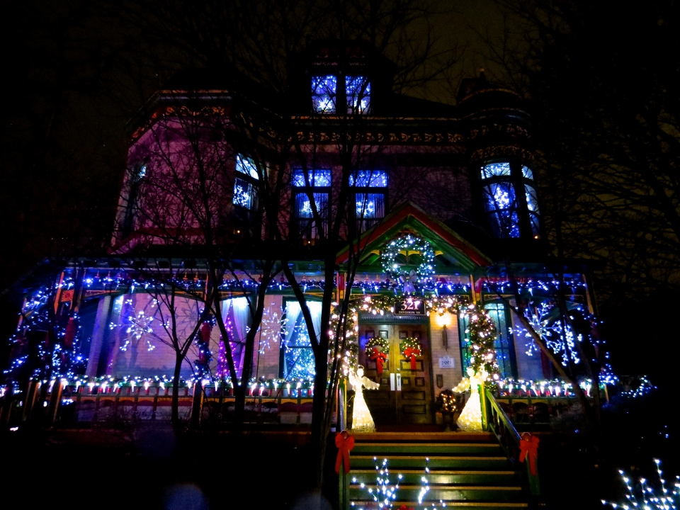 Christmas at 321 Division Street.