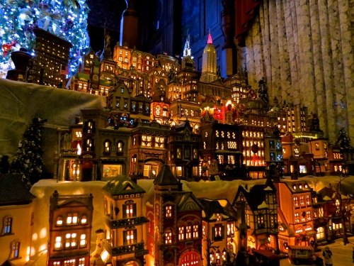 The Department 56, Christmas in the City village.