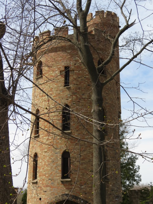 Pratt's Castle, north of downtown Elgin (1262 Cedar Ave, Elgin, IL) along the Fox River Trail.