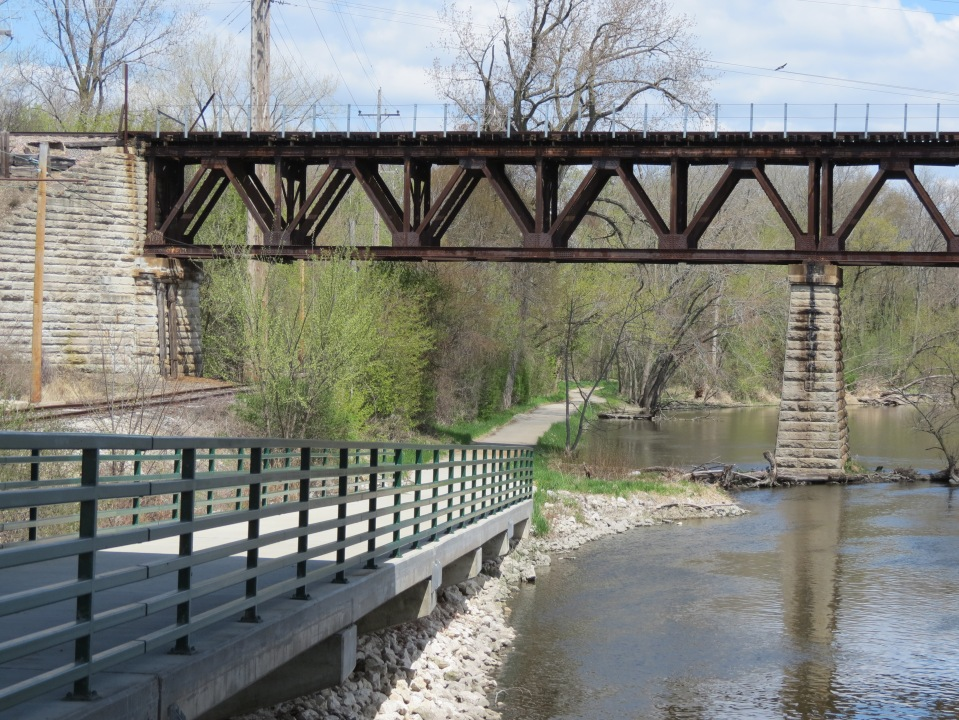 Where Bridges and Train Trestles Meet. One of the spots where the Fox River Trail and Illinois Prairie Path link.