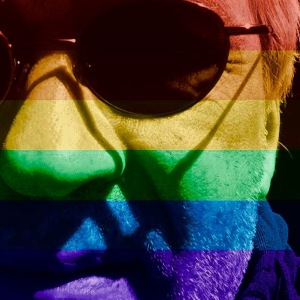 My profile picture with the FB celebratepride filter.