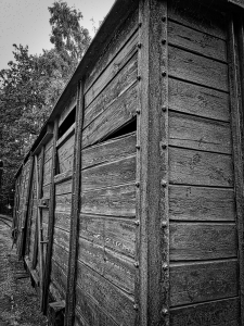 A freight car like those used to transport 80-100 prisoners to the concentration camps.