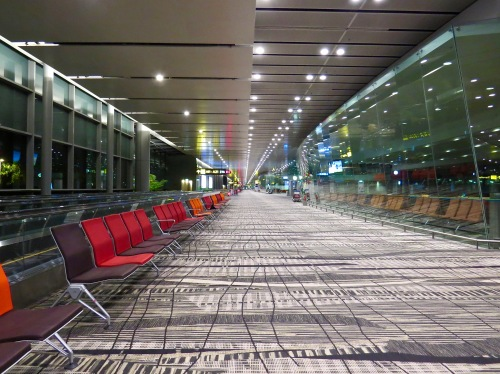 Deserted at 3 AM. Changi Airport.