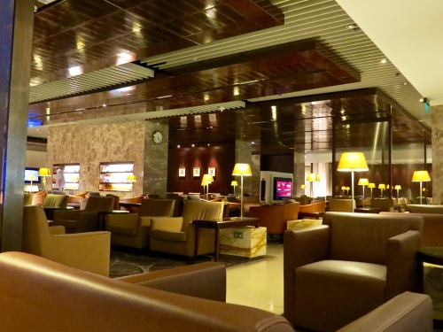 Inside the SilverKris lounge at Changi.